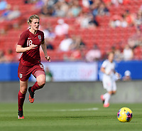 FRISCO, TX - MARCH 11: Ellen White #18 of England chases after a loose ball during a game between England and Spain at Toyota Stadium on March 11, 2020 in Frisco, Texas.