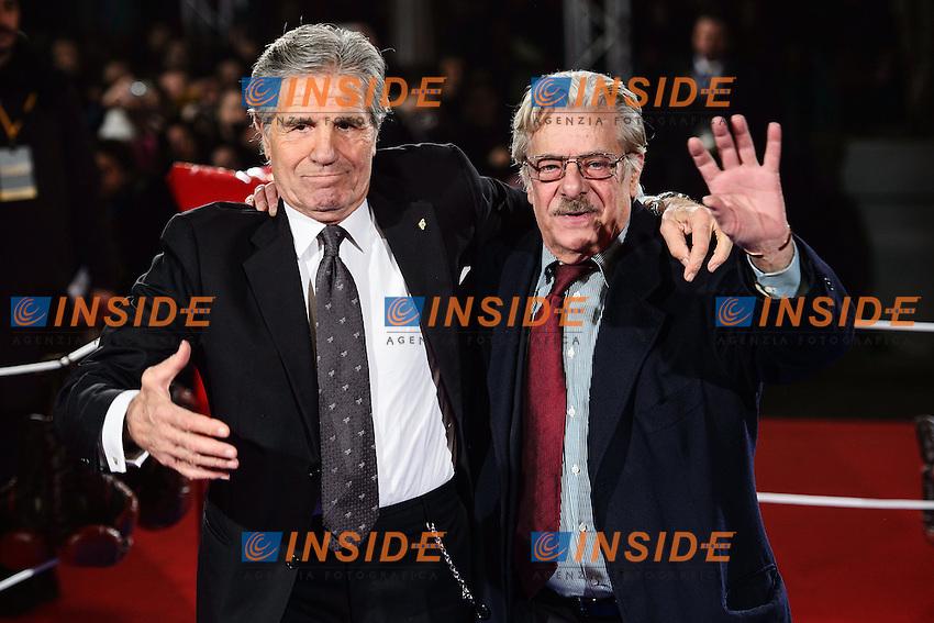 Nino Benvenuti, Giancarlo Giannini <br /> Roma 07-01-2014 Cinema The Space Moderno <br /> Grudge Match - Il Grande Match Premiere<br /> Foto Andrea Staccioli / Insidefoto