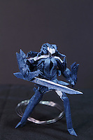 OrigamiUSA 2014 exhibition. Kos-Mos a character in the Xenosaga video game adapted and folded by Jeffrey Yen