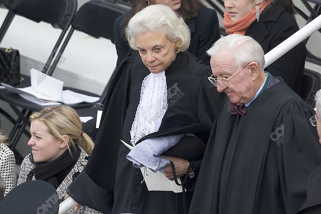 Sandra O' Connor Supreme Court Judge arriving at the Second Inauguration of George Walker Bush as President of the United States.Thursday, January 20th, 2005