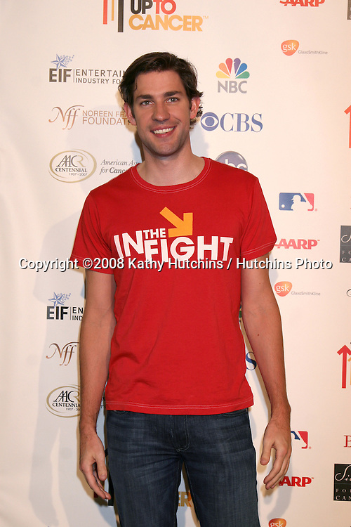"""John Krasinski arriving at the taping of """"Stand Up 2 Cancer"""" program at the Kodak Theater in Los Angeles, CA on.September 5, 2008.©2008 Kathy Hutchins / Hutchins Photo...."""