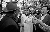 A Christian and a Muslim argue at Speakers Corner, Hyde Park, London; 1995.