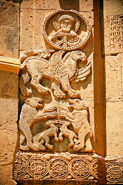 Bas Releif sculptures with scenes from the Bible on the outside of the 10th century Armenian Orthodox Cathedral of the Holy Cross on Akdamar Island, Lake Van Turkey 44