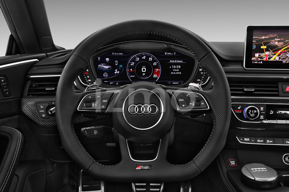 Car pictures of steering wheel view of a 2018 Audi RS5 4WD 2 Door Coupe