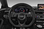 Car pictures of steering wheel view of a 2019 Audi RS5 4WD 2 Door Coupe
