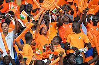 Tifosi Camerun Costa d'Avorio <br /> Malabo ( Guinea Equatoriale ) 28-01-2015 <br /> Coppa d'Africa 2015 <br /> Football Calcio 2014/2015 <br /> Repubblica Democratica del Congo - Costa d'Avorio 1-3 <br /> Foto Boubacar / Panoramic / Insidefoto