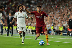 Real Madrid's Marcelo Vieira and AS Roma's Cengiz Under during Champions League match. September 19, 2018. (ALTERPHOTOS/A. Perez Meca)