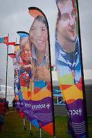 WOSM Flags standing in the 4 seasons square+