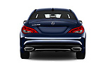 Straight rear view of 2017 Mercedes Benz CLA-Class CLA250 4 Door Sedan Rear View  stock images