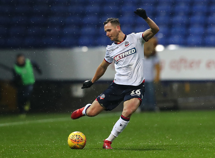 Bolton Wanderers' Pawel Olkowski <br /> <br /> Photographer Andrew Kearns/CameraSport<br /> <br /> The EFL Sky Bet Championship - Bolton Wanderers v Leeds United - Saturday 15th December 2018 - University of Bolton Stadium - Bolton<br /> <br /> World Copyright © 2018 CameraSport. All rights reserved. 43 Linden Ave. Countesthorpe. Leicester. England. LE8 5PG - Tel: +44 (0) 116 277 4147 - admin@camerasport.com - www.camerasport.com