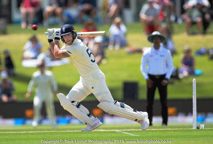 during day two of the international cricket 1st test match between NZ Black Caps and England at Bay Oval in Mount Maunganui, New Zealand on Friday, 22 November 2019. Photo: Dave Lintott / lintottphoto.co.nz