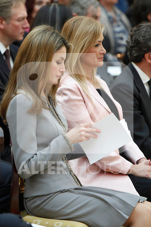 Princess Letizia of Spain attend the National Awards of Culture 2011 and 2012 at Palacio de El Pardo. February 19, 2013. (ALTERPHOTOS/Caro Marin)