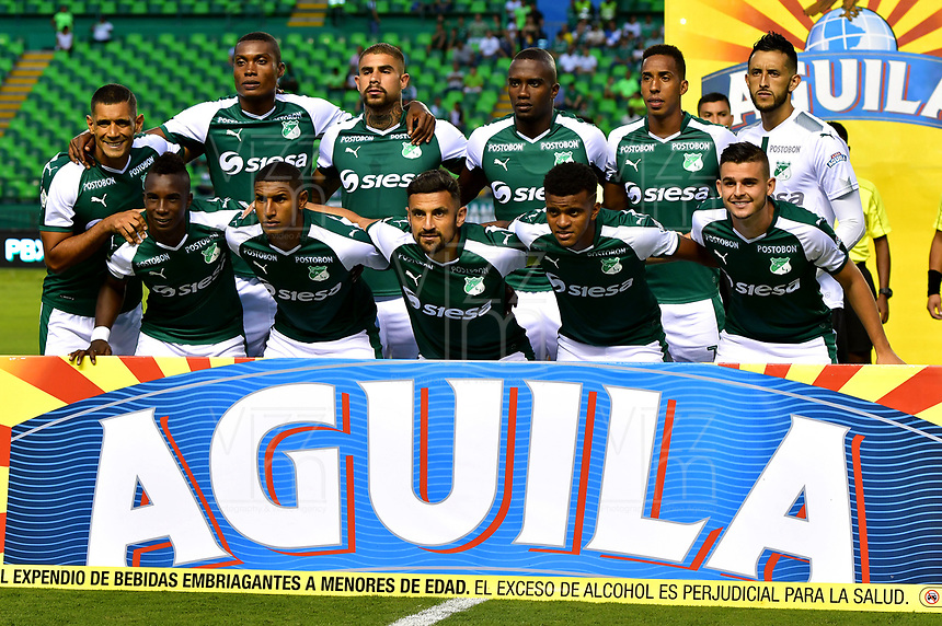 PALMIRA - COLOMBIA, 06-10-2018: Los jugadores de Deportivo Cali, posan para una foto, antes de partido de la fecha 13 entre Deportivo Cali y Patriotas F. C., por la Liga Aguila II 2018, jugado en el estadio Deportivo Cali (Palmaseca) de la ciudad de Cali. / The players of Deportivo Cali, pose for a photo, prior a match of the date 13th between Deportivo Cali and Patriotas F. C., for the Liga Aguila II 2018 at the Deportivo Cali (Palmaseca) stadium in Cali city. Photo: VizzorImage  / Nelson Ríos / Cont.