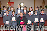 Curraheen NS, Glenbeigh pupils who made their confirmation in Glenbeigh on Monday front row l-r: Lisa Cahillane, Catriona Walsh, Dean McCarthy, Darren O'Connor, Kevin McGillicuddy. Back row: Rachel O'Connor, Emmanuelle Ares, Raphaelle Ares, Katie Roche, Louise McGillicuddy, Isobel Mooney