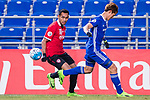 Ulsan Hyundai Defender Jung Seunghyun (R) in action against Muangthong Forward Teerasil Dangda (L) during the AFC Champions League 2017 Group E match between  Ulsan Hyundai FC (KOR) vs Muangthong United (THA) at the Ulsan Munsu Football Stadium on 14 March 2017 in Ulsan, South Korea. Photo by Chung Yan Man / Power Sport Images