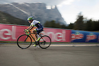 Johan Esteban Chaves (COL/Orica-GreenEDGE) pushing it up<br /> <br /> stage 15 (iTT): Castelrotto-Alpe di Siusi 10.8km<br /> 99th Giro d'Italia 2016
