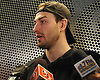 Adam Pelech speaks with the media after New York Islanders player exit interviews with management at Northwell Health Ice Center in East Meadow on Monday, April 9, 2018.
