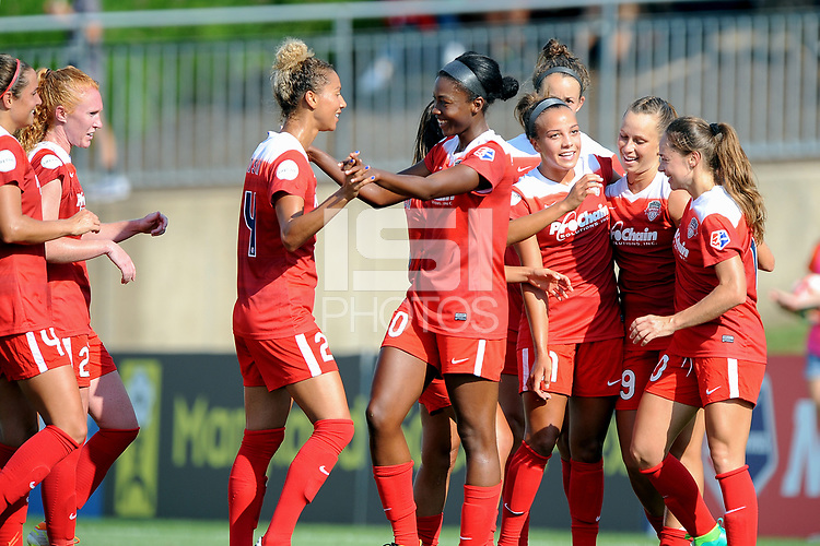 Boyds, MD - Saturday August 12, 2017: Cheyna Williams during a regular season National Women's Soccer League (NWSL) match between the Washington Spirit and the Boston Breakers at Maureen Hendricks Field, Maryland SoccerPlex.