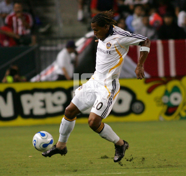 LA Galaxy forward Carlos Pavon (20). CD Chivas USA defeated the LA Galaxy in the Super Clasico 3-0 at the Home Depot Center in Carson, CA, Thursday, September 13, 2007.