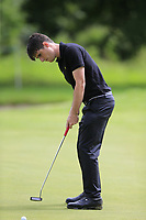 Dermot McElroy (NIR) putts on the 9th green during Sunday's Final Round of the Northern Ireland Open 2018 presented by Modest Golf held at Galgorm Castle Golf Club, Ballymena, Northern Ireland. 19th August 2018.<br /> Picture: Eoin Clarke | Golffile<br /> <br /> <br /> All photos usage must carry mandatory copyright credit (&copy; Golffile | Eoin Clarke)
