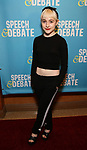 Sophia Ann Caruso attends Broadway Red Carpet Premiere of 'Speech & Debate'  at the American Airlines Theatre on April 2, 2017 in New York City.