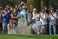 Tiger Woods (USA) hits from the trap on 15 during round 3 of the World Golf Championships, Mexico, Club De Golf Chapultepec, Mexico City, Mexico. 2/23/2019.<br /> Picture: Golffile | Ken Murray<br /> <br /> <br /> All photo usage must carry mandatory copyright credit (© Golffile | Ken Murray)
