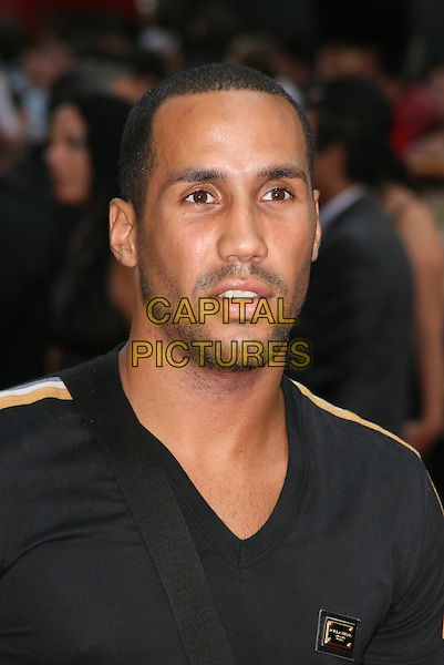 "JAMES DEGALE .At the UK Film Premiere of ""The Expendables"" at Odeon Leicester Square, London, England, UK, .August 9th 2010..portrait headshot black v-neck beard facial hair stubble .CAP/JIL.©Jill Mayhew/Capital Pictures"