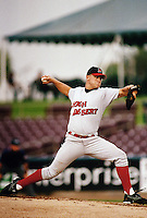 Jeremy Ward of the High Desert Mavericks during a California League baseball game circa 1999. (Larry Goren/Four Seam Images)