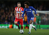 5th December 2017, Stamford Bridge, London, England; UEFA Champions League football, Chelsea versus Atletico Madrid; Willian of Chelsea in action