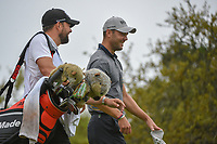 Martin Kaymer (GER) shares a laugh with his caddie as he heads down 10 during day 3 of the Valero Texas Open, at the TPC San Antonio Oaks Course, San Antonio, Texas, USA. 4/6/2019.<br /> Picture: Golffile | Ken Murray<br /> <br /> <br /> All photo usage must carry mandatory copyright credit (&copy; Golffile | Ken Murray)
