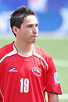 22 July 2007: Chile's Michael Silva. At the National Soccer Stadium, also known as BMO Field, in Toronto, Ontario, Canada. Chile's Under-20 Men's National Team defeated Austria's Under-20 Men's National Team 1-0 in the third place match of the FIFA U-20 World Cup Canada 2007 tournament.