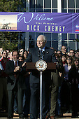 After taking a tour ofthe National Aeronautics and Space Administration's (NASA) Jet Propulsion Laboratory (JPL) inPasadena, California, United States Vice President Dick Cheney congratulatesJPL'sstaff on the successful landing of therobotic rover Spirit on Mars January 14, 2004.Spirit, developed and controlled at thelaboratory, will explore Mars'Gusev Crater to determine whether the planet ever contained water and if it could sustain life.<br /> Mandatory Credit: David Bohrer / WH via CNP