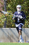Los Angeles, CA 03/12/16 - Mike Adams (Utah State #2) in action during the Utah State vs Loyola Marymount MCLA Men's Division I game at Leavey Field at LMU.  Utah State defeated LMU 17-4.