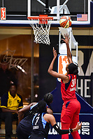 Washington, DC - September 2 2018: Washington Mystics forward LaToya Sanders (30) goes up for a layup during semifinals game against Atlanta Dream. Mystics even the series and force a deciding game 5 in Atlanta with a 97-76 win at the Charles Smith Center at George Washington University in Washington, DC. (Photo by Phil Peters/Media Images International)