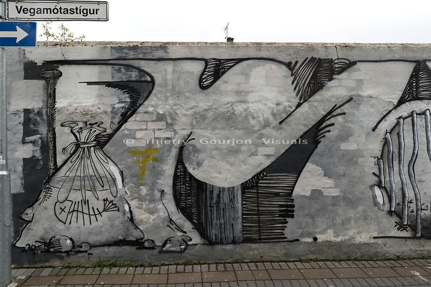 Vegamotastigur.<br /> Reykjavik, Iceland.<br /> Photo by Thierry Gourjon.<br /> 2018