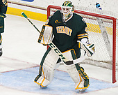 Stefanos Lekkas (UVM - 40) - The visiting University of Vermont Catamounts tied the Boston College Eagles 2-2 on Saturday, February 18, 2017, Boston College's senior night at Kelley Rink in Conte Forum in Chestnut Hill, Massachusetts.Vermont and BC tied 2-2 on Saturday, February 18, 2017, Boston College's senior night at Kelley Rink in Conte Forum in Chestnut Hill, Massachusetts.
