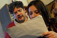 Corso di teatro di Lucia Panaro. Prove dello spettacolo. Graziano Panaro e Arianna D'Arconte.<br /> Theatre course Lucia Panaro. Rehearsals for the show.
