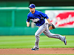 23 April 2010: Los Angeles Dodgers' infielder Jamey Carroll warms up prior to a game against the Washington Nationals at Nationals Park in Washington, DC. The Nationals defeated the Dodgers 5-1 in the first game of their 3-game series. Mandatory Credit: Ed Wolfstein Photo