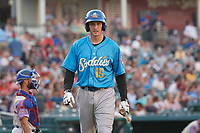 Amarillo Sod Poodles Taylor Kohlwey (15) during a Texas League game against the Frisco RoughRiders on July 13, 2019 at Dr Pepper Ballpark in Frisco, Texas.  (Mike Augustin/Four Seam Images)