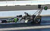 Feb 13, 2016; Pomona, CA, USA; NHRA top fuel driver Brittany Force during qualifying for the Winternationals at Auto Club Raceway at Pomona. Mandatory Credit: Mark J. Rebilas-USA TODAY Sports