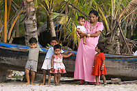 Kerala, India, April 2008. Children play on the beach. The backwaters of Kerala are reknowned for its rich history and its importance for the spice trade. Photo by Frits Meyst/Adventure4ever.com
