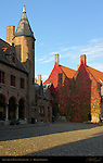 Gruuthuse Museum Courtyard, Bruges, Brugge, Belgium