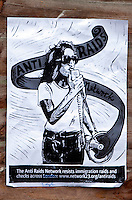 Anti Raid Network Flyer, Grove Lane, Handsworth, Birmingham, 21st Jan 2017