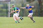 Ahane Niall Moran &amp; Patrickswell Eoin McNamara in action during their Senior Hurling Championship Round 1 Game played in Bruff Co.Limerick.<br /> Pictured Credit Brian Gavin Press 22