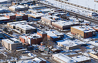 winter view of downtown La Junta, Colorado