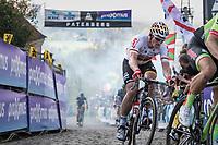 André Greipel (DEU/Lotto-Soudal) up the Paterberg<br /> <br /> 101th Ronde Van Vlaanderen 2017 (1.UWT)<br /> 1day race: Antwerp › Oudenaarde - BEL (260km)