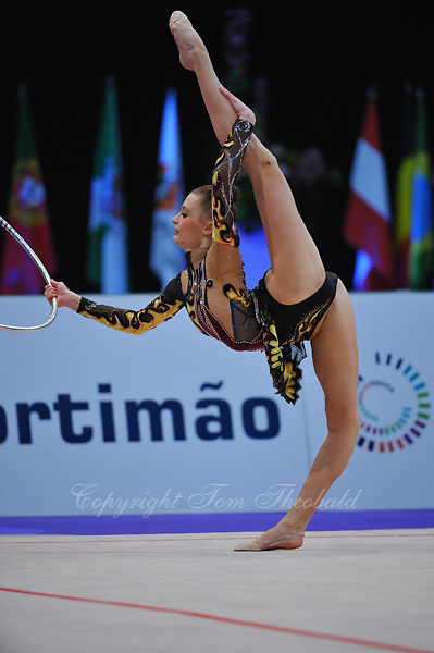 Yana Lukonina of Russia performs at 2010 World Cup at Portimao, Portugal on March 12, 2010.  (Photo by Tom Theobald).