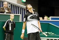 22-2-08, Netherlands, Rotterdam,  ABNAMROWTT 2008, Robin Haase verliest van Michael Llodra