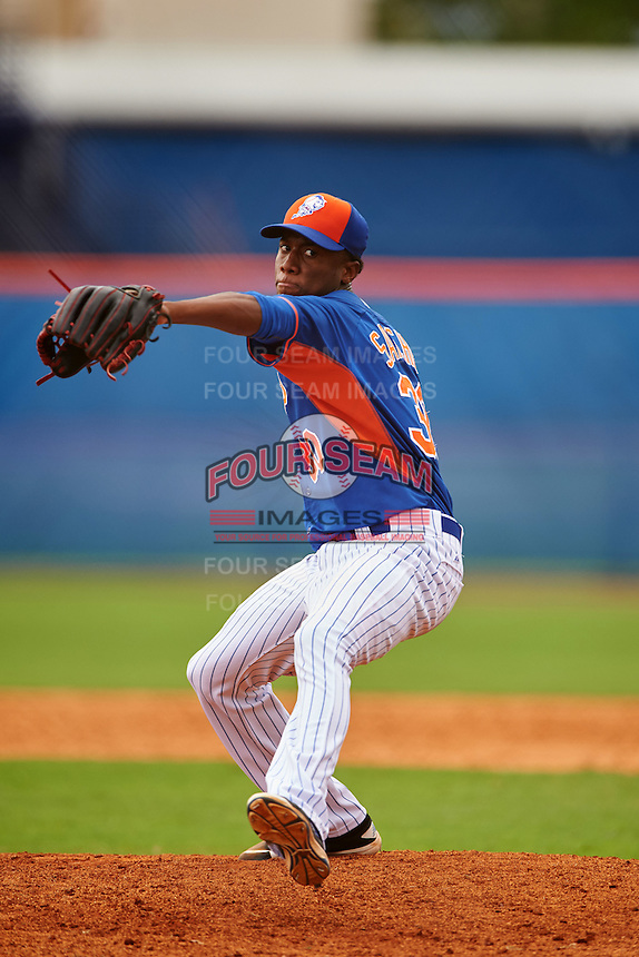 New York Mets pitcher Ronald Sanchez (30) during an Instructional League game against the Miami Marlins on September 29, 2016 at the Port St. Lucie Training Complex in Port St. Lucie, Florida.  (Mike Janes/Four Seam Images)