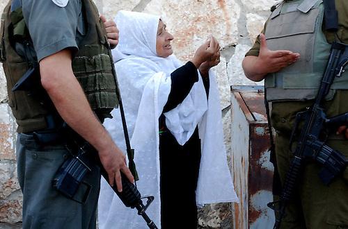 Checkpoint of Behtlehem during Ramadan 2009.